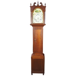 1833 Early American Antique Grandfather Clock Preview