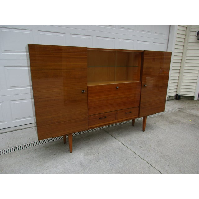 1950s Mid-Century Modern German Bar Cabinet -Shrunk For Sale - Image 5 of 13