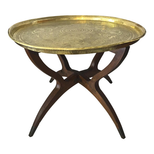 Mid Century Moorish Side Table For Sale