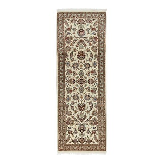 One-Of-A-Kind Persian Hand-Knotted Area Rug, Parchment, 2' 4 X 6' 6 For Sale