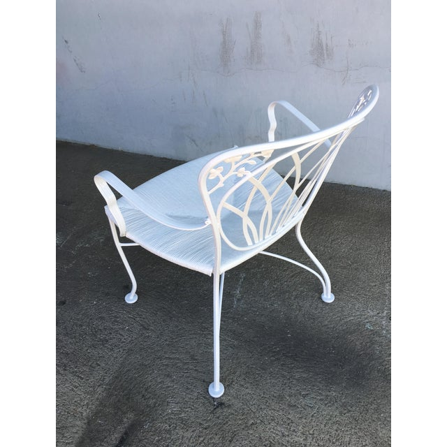 Woodard Furniture Co. Woodard Art Nouveau Iron Patio/Outdoor Lounge Chairs, 9 Available For Sale - Image 4 of 7