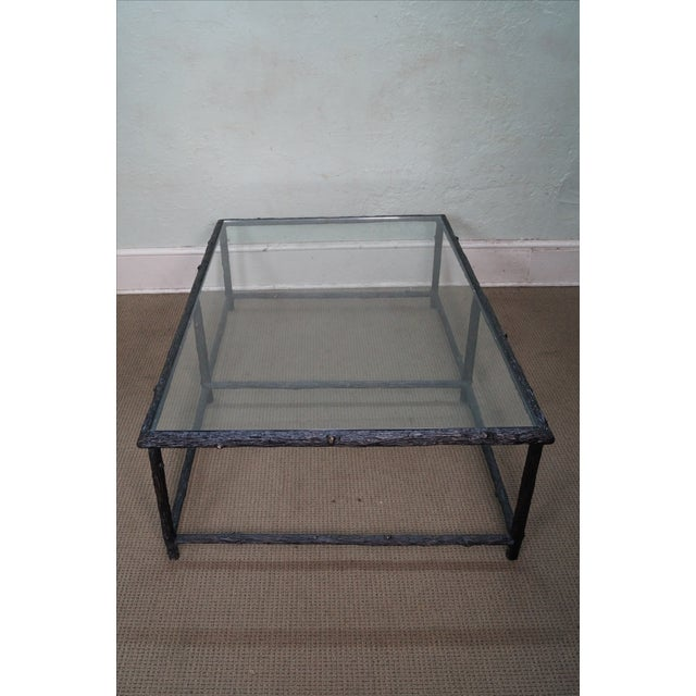 Faux Branch Coffee Table With Glass Top - Image 3 of 10