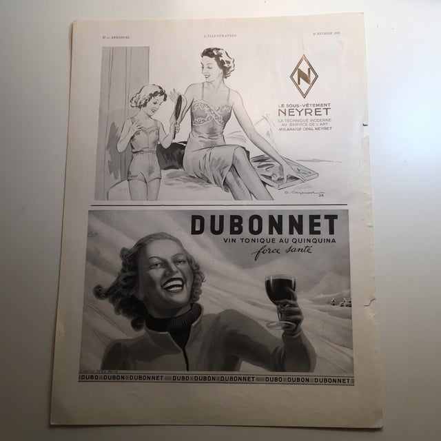 1938 French Dubonnet Ad - Image 2 of 8