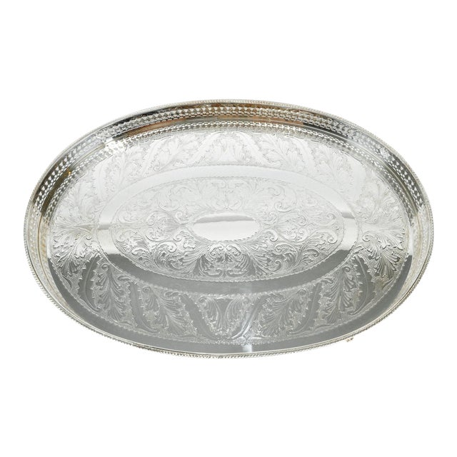 English Sheffield Gallery Tray For Sale