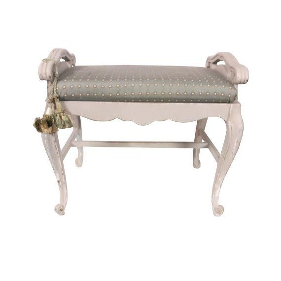 French Carved Upholstered Vanity Bench For Sale In Philadelphia - Image 6 of 6
