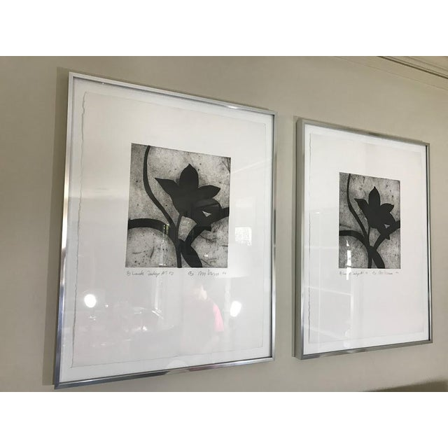 Modern Matching Flower Prints - A Pair - Image 2 of 7