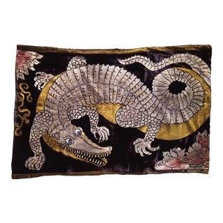 Alligator Silk Velvet Pillow Cover For Sale