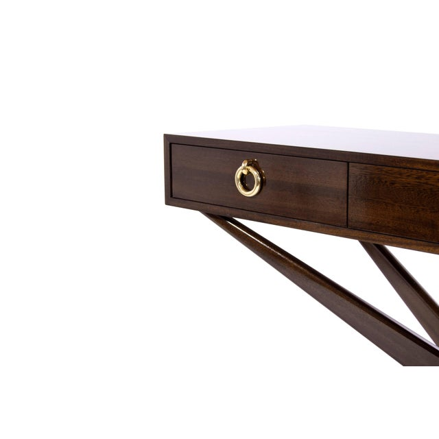 2010s Mahogany Sputnik Console Table For Sale - Image 5 of 10