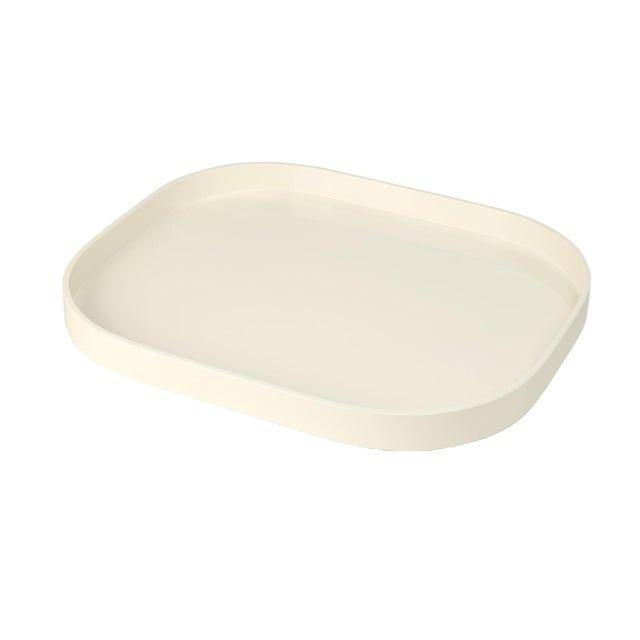 Contemporary Miles Redd Collection Medium Stacking Tray in Ivory For Sale - Image 3 of 3