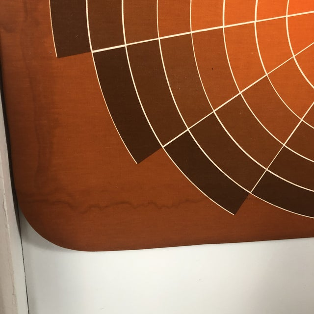 Mid-Century Modern 1960s Large Textile Optic Art Upholstered Panel For Sale - Image 3 of 11