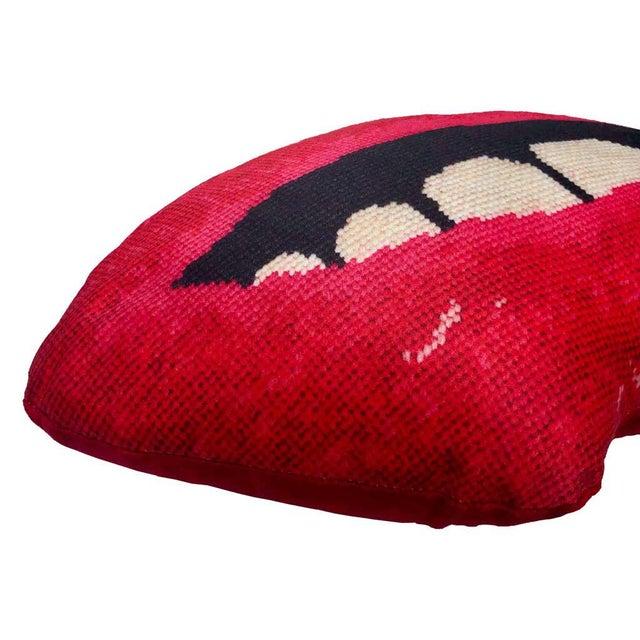 "Textile Custom Made Modern Lips Pillow, Original ""Embrasse Moi"" Design For Sale - Image 7 of 11"