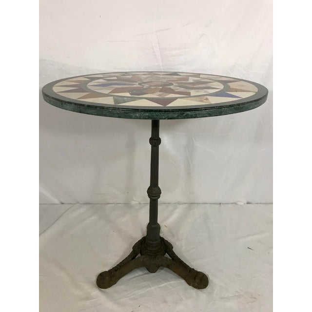 French Antique Bistro Table For Sale - Image 4 of 7