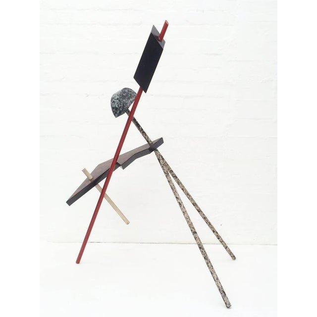 Red Memphis Acrylic Painted Steel Sculpture For Sale - Image 8 of 10