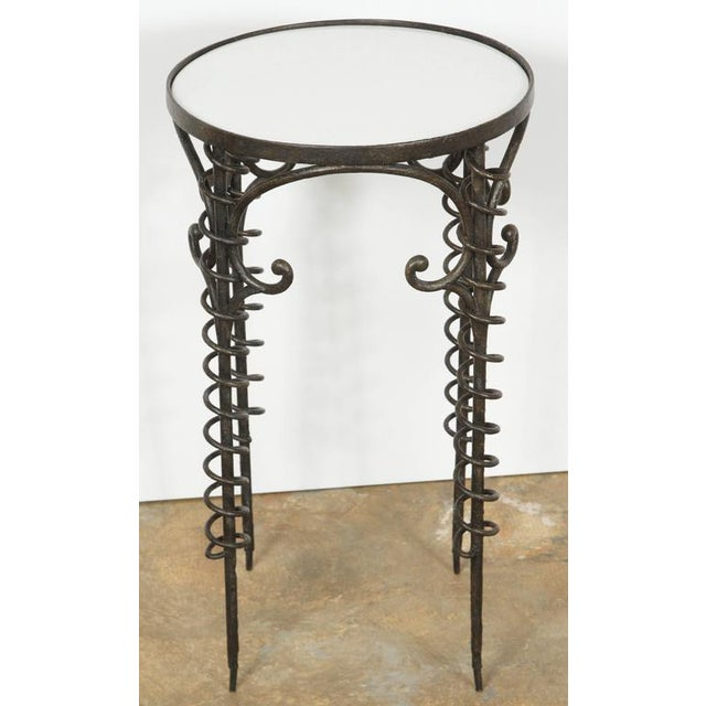 Sculptural Bronzed Iron Side Table - Image 3 of 7