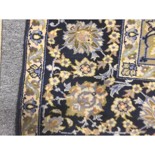 "Blue Vintage Tabriz Rug 10' 9.5""x7' 10"" For Sale - Image 8 of 10"