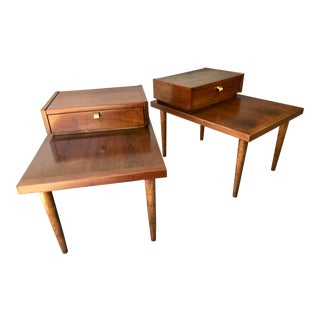 Merton Gershun for American of Martinsville Mid-Century Modern Walnut End Tables - a Pair For Sale