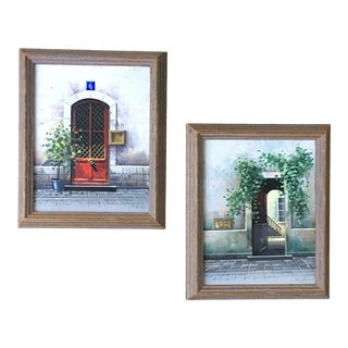 French Paintings 1970s Oil on Canvas - A Pair For Sale