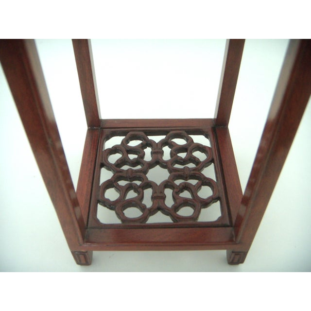 Mid 20th Century Vintage 'Ming' Style Chinese Solid Rosewood Curio Display Pedestal/Stand For Sale - Image 5 of 7