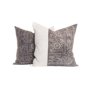 Vintage Hmong Batik Pillows - A Pair