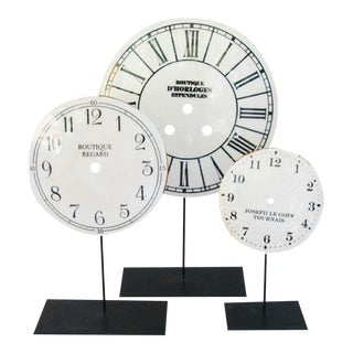 Porcelain Clock Faces on Stands - Set 3