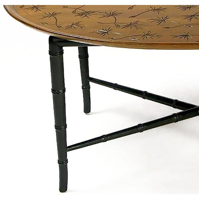 1950s Kittinger Tray Coffee Table with Incised Thistledown Design For Sale - Image 5 of 6