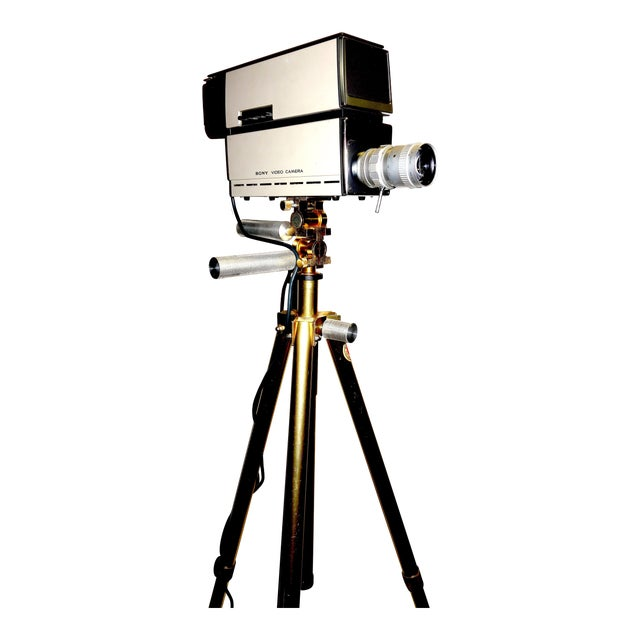 Sony Vintage Vidicon Industrial Video Camera Circa 1969-70 Complete With Tripod. ON SALE For Sale