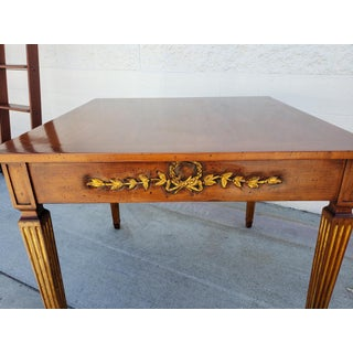 Walnut Game Table With Carving and 24k Gold Leaf Decoration Preview