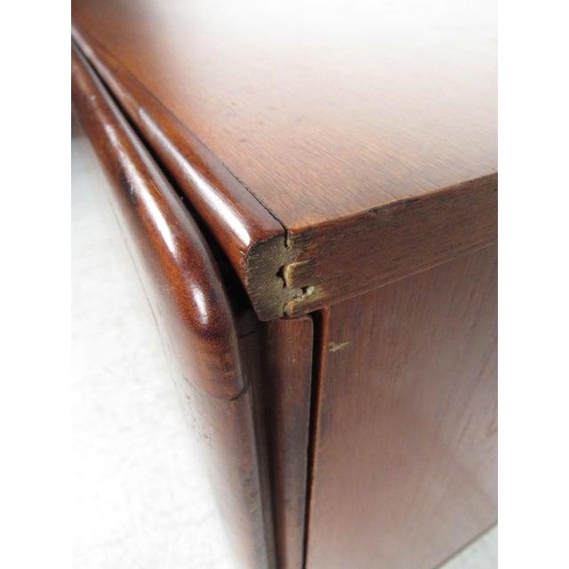 Wood Compact Scandinavian Modern Teak Cabinet For Sale - Image 7 of 13