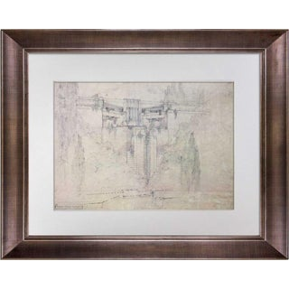 1950s Vintage Frank Lloyd Wright Doheny Ranch Resort Limited Edition Lithograph Print For Sale