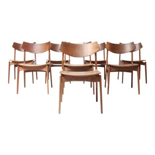 Danish Modern Funder-Schmidt & Madsen Dining Chairs - Set of 8