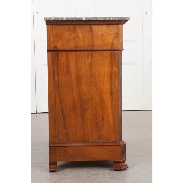 French French 19th Century Louis Philippe Walnut Drop-Front Desk For Sale - Image 3 of 12