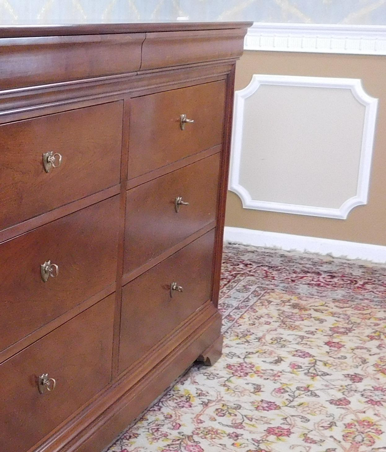 Stickley Furniture Solid Cherry Louis Philippe Style La Rochelle Dresser    Image 4 Of 11