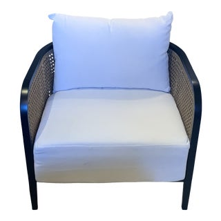 Havana Lounge Open-Cane Chair For Sale