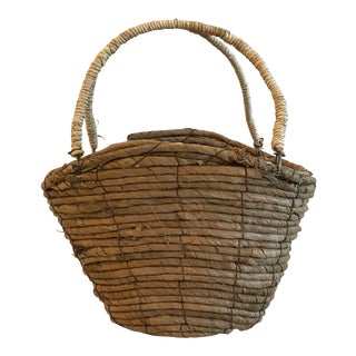 Vintage Coil Basket Purse For Sale