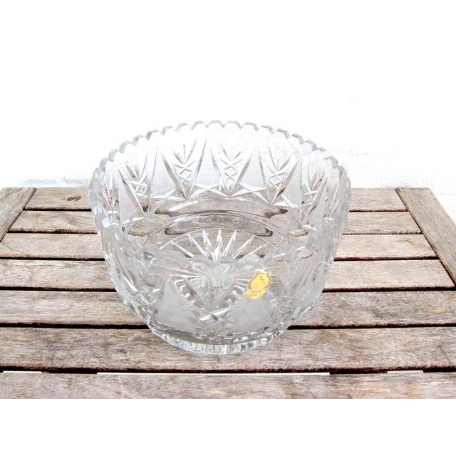 Imperlux Vintage Crystal Fruit Bowl For Sale - Image 5 of 6