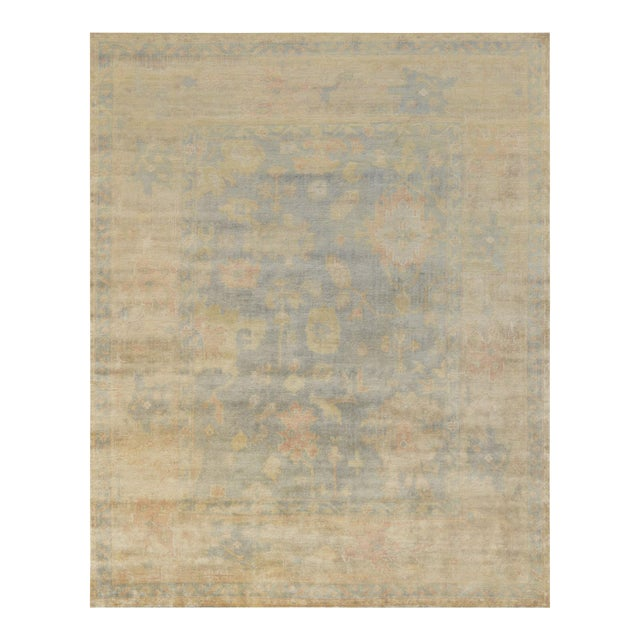 """Mansour Quality Handwoven Oushak Rug - 8'2"""" X 9'10"""" For Sale"""