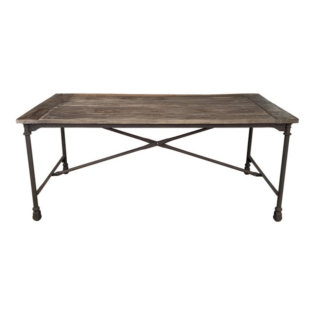 Restoration Hardware Flatiron Dining Table For Sale