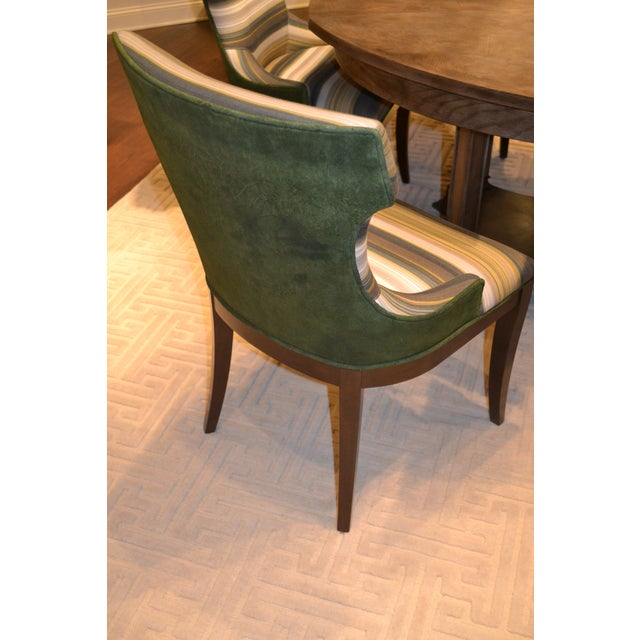 Contemporary Addison Club Dining Chairs - Pair For Sale - Image 3 of 4