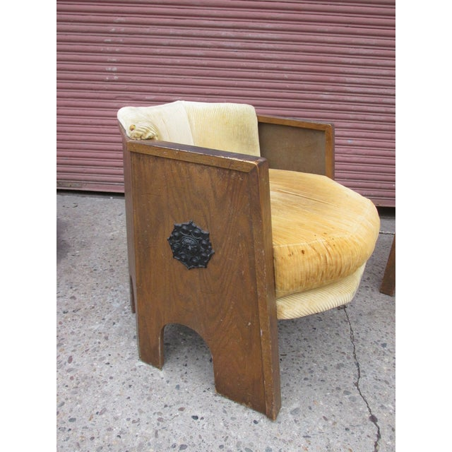 """Adrian Pearsall """"Strictly Spanish"""" for Master Craft. Chairs need to be all redone, but a very unique and hard to find..."""