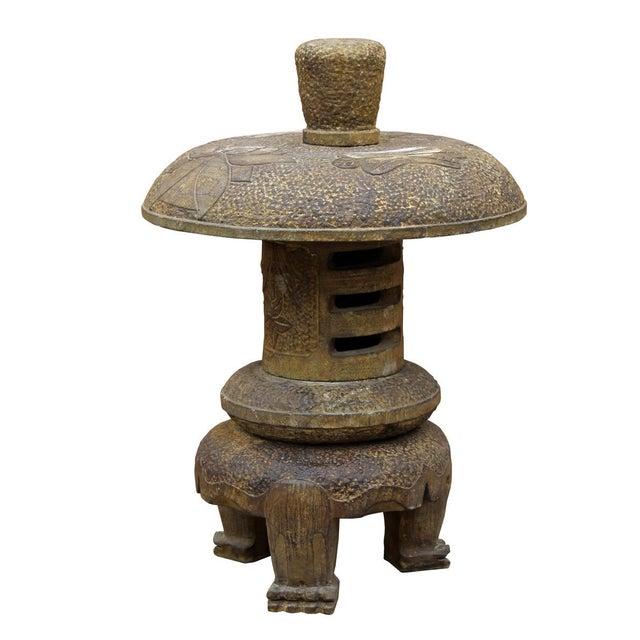 Chinese Stone Garden Lantern - Image 4 of 6