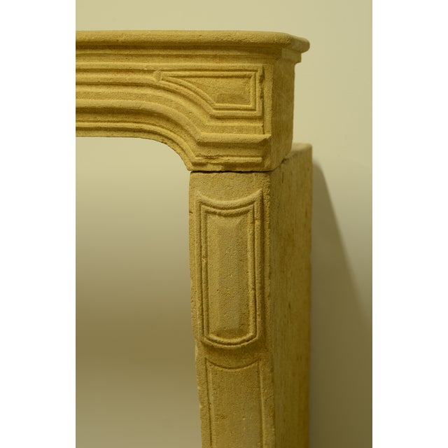 Antique Limestone Fireplace From France, 19th Century For Sale - Image 10 of 12
