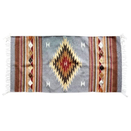 Mexican Pedal-Loom Gray Rug- 2′7″ × 4′10″ - Image 1 of 6