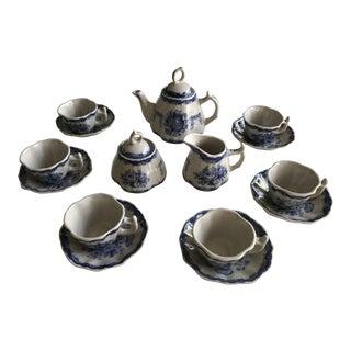 Miniature Blue & White China Tea Set - Service for 6