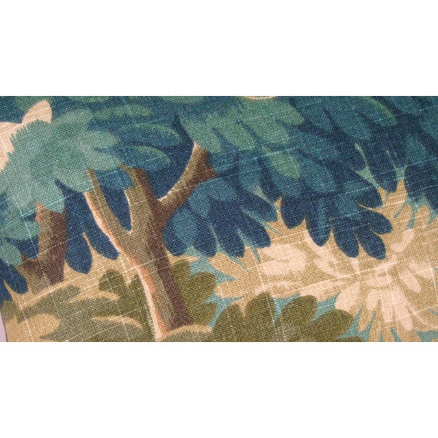 2020s Verdure Print Linen Lumbar Pillow Cover For Sale - Image 5 of 9