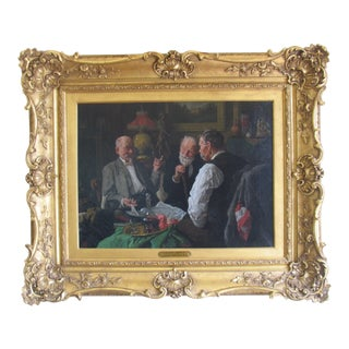 "Vintage ""Another Story"" Framed Painting For Sale"