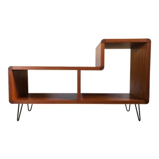 Mid-Century Modern Media Cabinet With Hairpin Legs For Sale