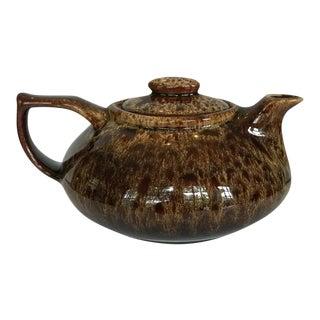 Vintage Drip Glaze Teapot For Sale