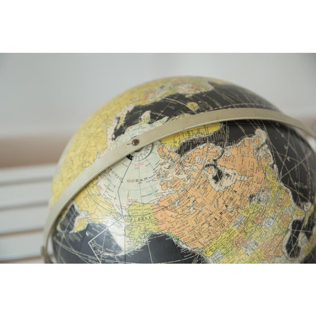 1960s Rand McNally Black Globe - Image 9 of 10