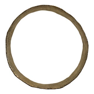 "Hand Forged Solid Brass Circle Sculpture 20"" For Sale"