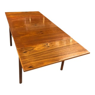 Dixie Teak Expanding Draw Leaf Petite Dining Table For Sale